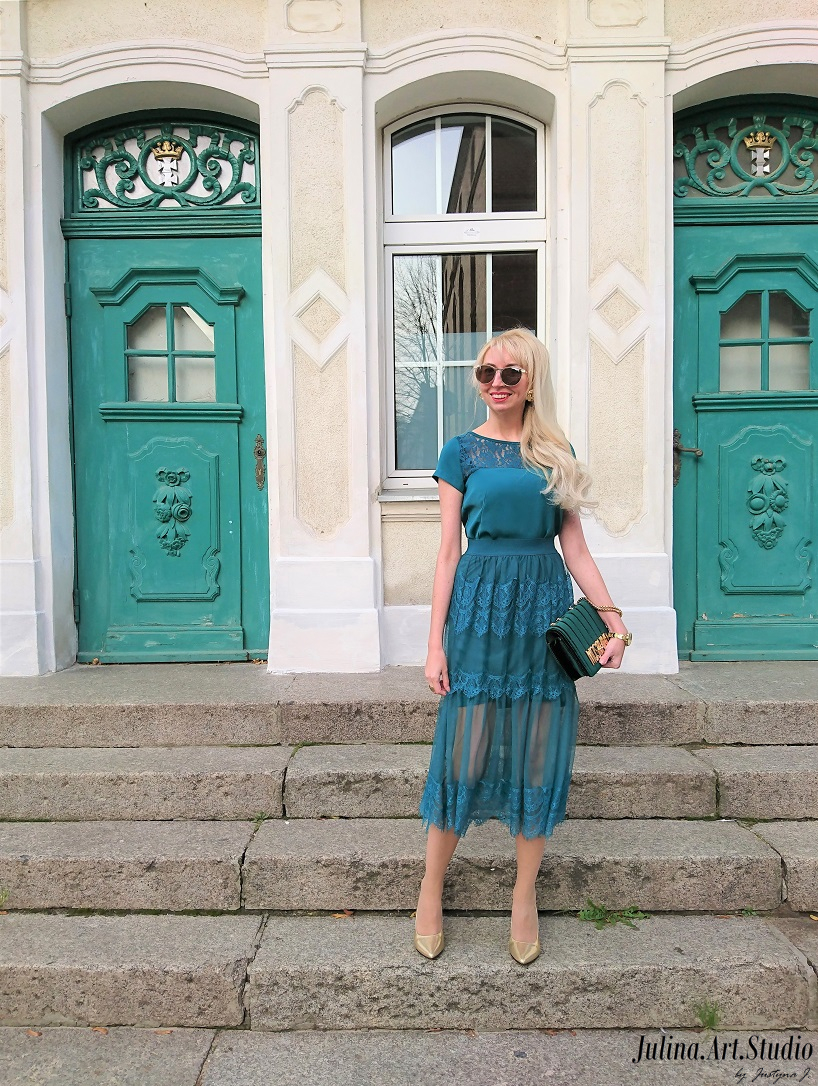 4cc5d1c1a277ef Szmaragdowa sukienka   PolskieSzafiarki.pl i najlepsze blogi, blogi ...